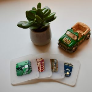 White Acrylic and Circuit Board Group