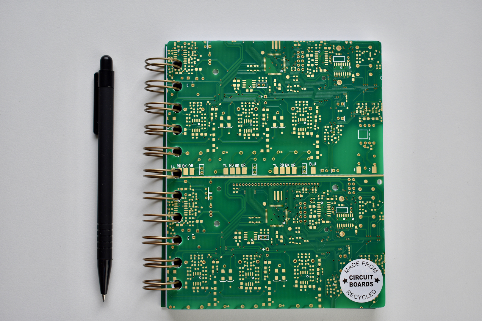 Circuit Board A6 Approx Notebook With Recycled Paper Revolve Cufflinks Cb And Pen
