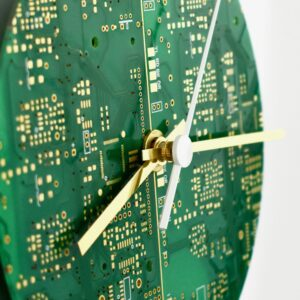 Circuit Board Clock-Round