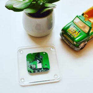 Green Acrylic and CB Coaster