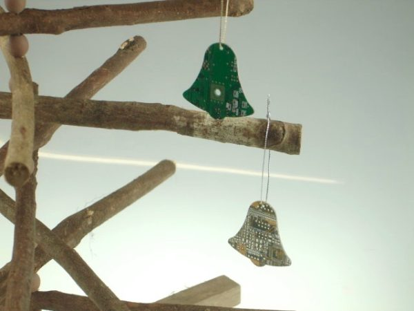 Circuit Board Bells Hanging