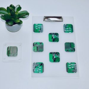 Circuit Board A4 Clip Board Green