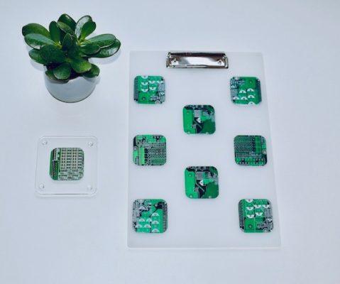 Circuit Board A4 Clip Board Green