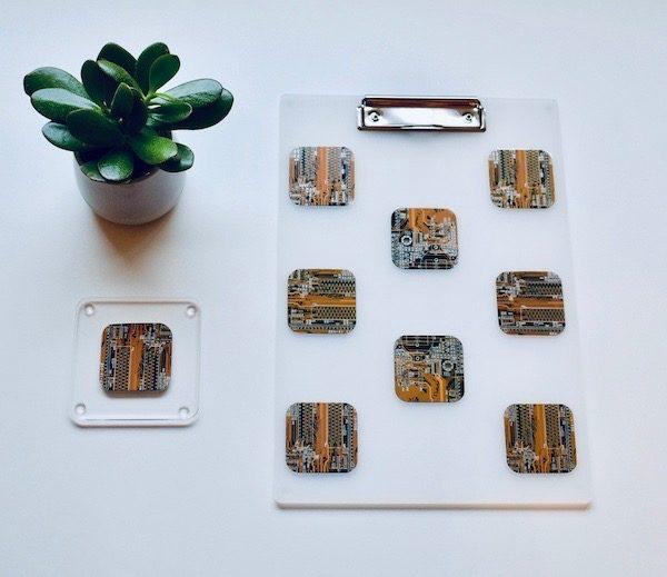 Circuit Board A4 Clip Board Gold