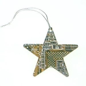 Circuit Board Star Decoration