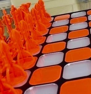 Acrylic Chess - Neon Orange