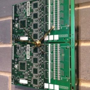Circuit Board Wall Clock - Two Tone Green
