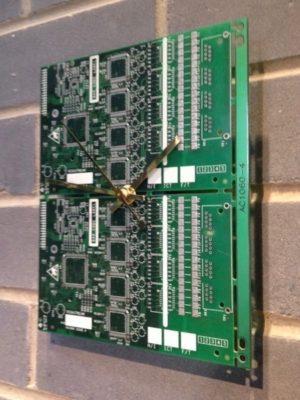 Circuit Board Wall Clock - Two Tone Green