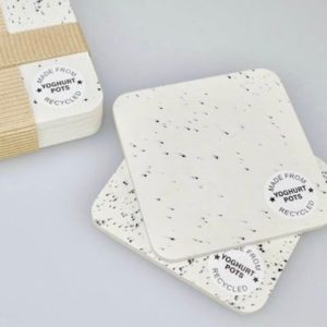 Yoghurt Pot Coasters Pack x 4