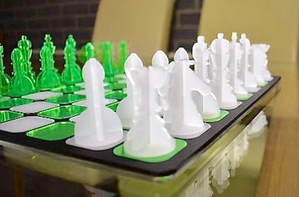 Acrylic Chess - Matte White