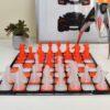 Orange and White Chess 3