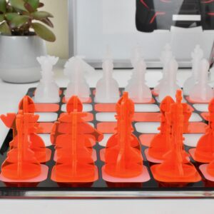Orange and White Chess 2