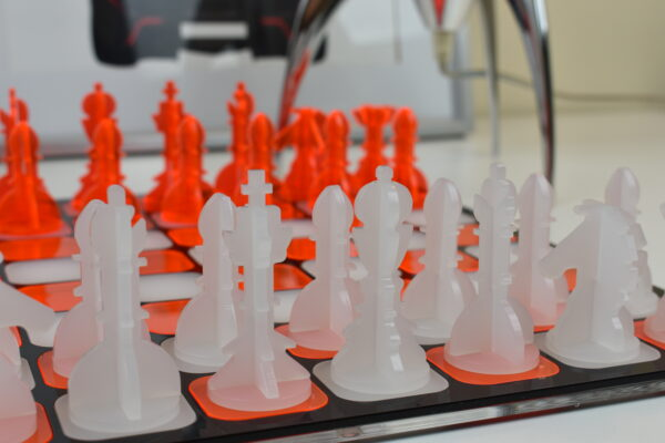 Orange and White Chess 1